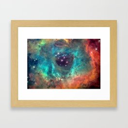 Colorful Nebula Galaxy Framed Art Print