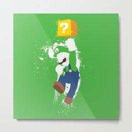 Luigi Paint Metal Print