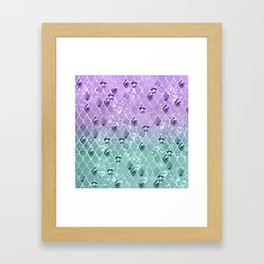 Mermaid Princess Glitter Scales #3 #shiny #pastel #decor #art #society6 Framed Art Print