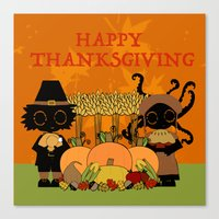 thanksgiving Canvas Prints featuring Thanksgiving by BLOOP
