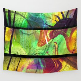 Painted Panes Abstract Wall Tapestry