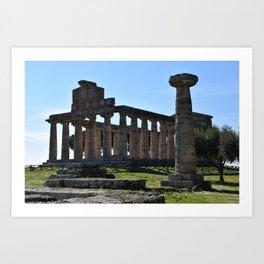 paestum i templi Art Print