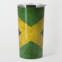 Old and Worn Distressed Vintage Flag of Jamaica Travel Mug