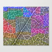 leaf Canvas Prints featuring Leaf  by Latidra Washington