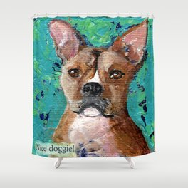 Nice Doggie Shower Curtain