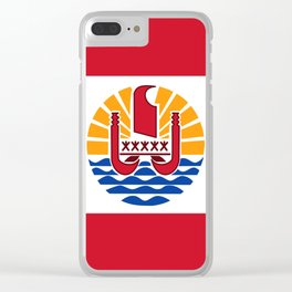 French Polynesia Flag Clear iPhone Case