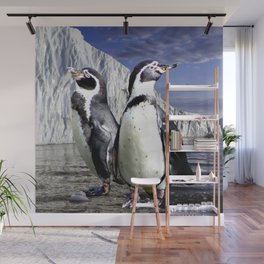 Penguins and Glacier Wall Mural