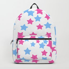Pink and Blue Stars Backpack