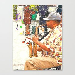 Tennessee Saxaphone Canvas Print