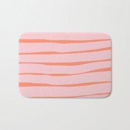 Stripes - Peach Bath Mat