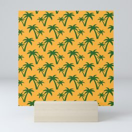 Seamless Palm Trees Pattern Mini Art Print