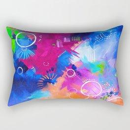 Scrap Paint 1 - Colorful abstract art Rectangular Pillow