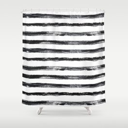 Grungy stripes Shower Curtain