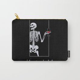 Skeleton Illustration-Let's Wine About It Carry-All Pouch
