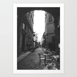 Ancient History: B&W Paris Collection #4 Art Print