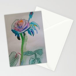 Flower inspiration modern paintings by Christian T. Stationery Cards