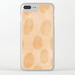 Orange Painting Pattern Clear iPhone Case