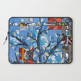 Tree in blue and brown Laptop Sleeve