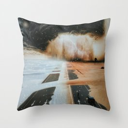 Extreme weather in Dubai by GEN Z Throw Pillow