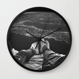 Lost in Space Over Italy Wall Clock