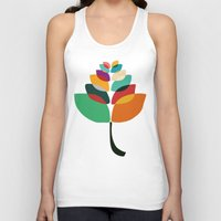lotus flower Tank Tops featuring Lotus flower by Picomodi