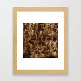 German Shepherd Dog collage Framed Art Print