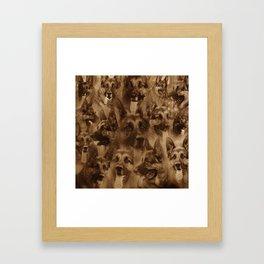 German Shepherd Dog collage Framed Art Print