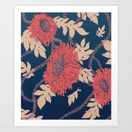 Fictitious Floral Print Art Print