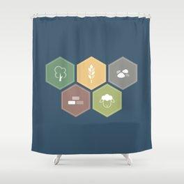 Economics Shower Curtain