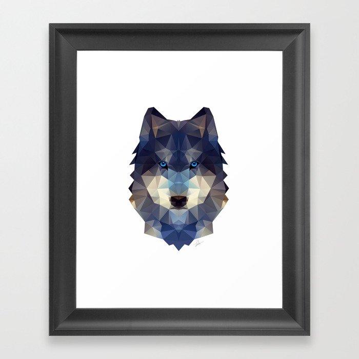 Wolfdog Gerahmter Kunstdruck