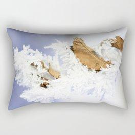 Fine Art Photograph Print - Winter Frost Rectangular Pillow