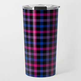 Bisexual Pride Checkered Pride Plaid Travel Mug
