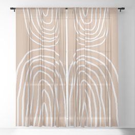 Abstract Rainbow, Sheer Curtain