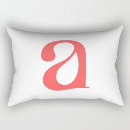 lowercase a Rectangular Pillow