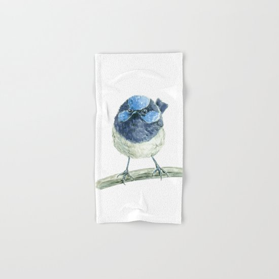 Fairy wren bird Hand & Bath Towel