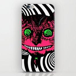 Cheshire Cat in Vortex iPhone Skin