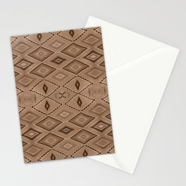 Abstract Pattern inspired by Navajo Weaving in Earthtones Stationery Cards