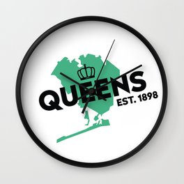 Queens NYC - Green Wall Clock