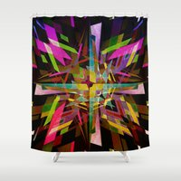 rabbits Shower Curtains featuring Comic Rabbits by Robotic Ewe