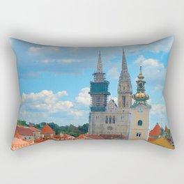 Croatia Skyline Rectangular Pillow