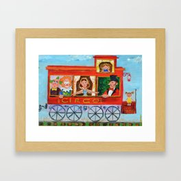 The Cabus of my Daughters' Circus Train El Cabus del Tren del Circo de mis Hijas Framed Art Print