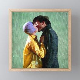 Singin' in the Rain - Green Framed Mini Art Print