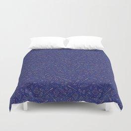Yer a Wizard - Blue + Bronze Duvet Cover