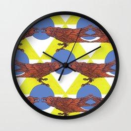 Muninn & The Wheel Wall Clock