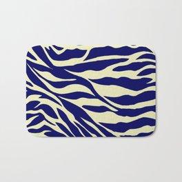 blue zebra Badematte