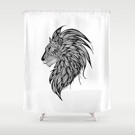 Lion Illustration Shower Curtain