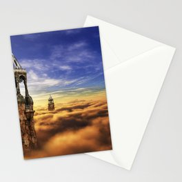 Fantasy Castle Sky Tower On Cloud Stationery Cards