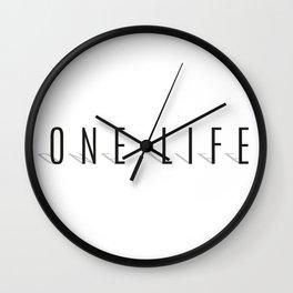 One Life Wall Clock