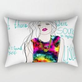 sounds in my head Rectangular Pillow