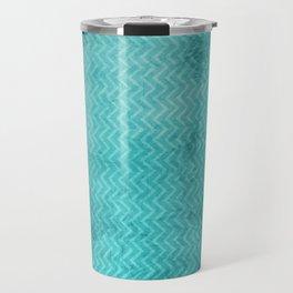 Textured limpet blue chevron pattern Travel Mug